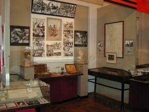 Blick in die Dauerausstellung des Kriegsmedizinischen Museums in St. Petersburg.