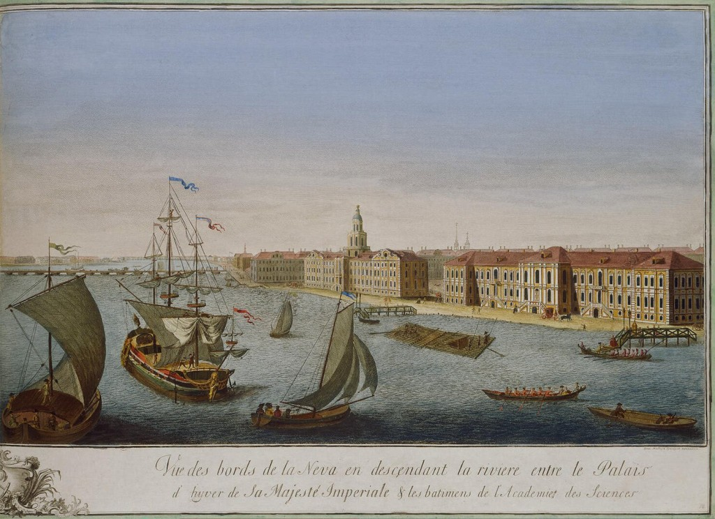 Makhayev,_Kachalov_-_View_of_Neva_Downstream_between_Winter_Palace_and_Academy_of_Sciences_1753_(right)